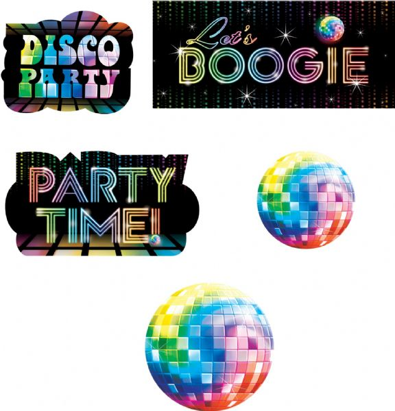 70s Disco Fever - Assorted Card Cut-outs